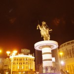 Skopje night time