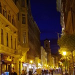 Night time walking in Budapest