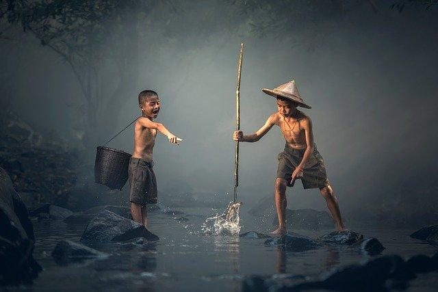アジア子供