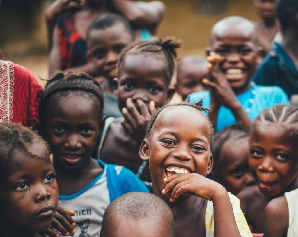 アフリカ子供集合