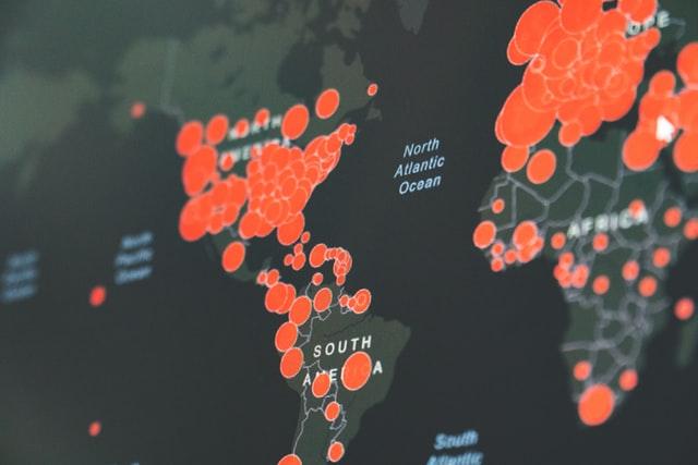 コロナ世界マップ